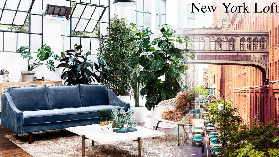 Un loft glam' à New York