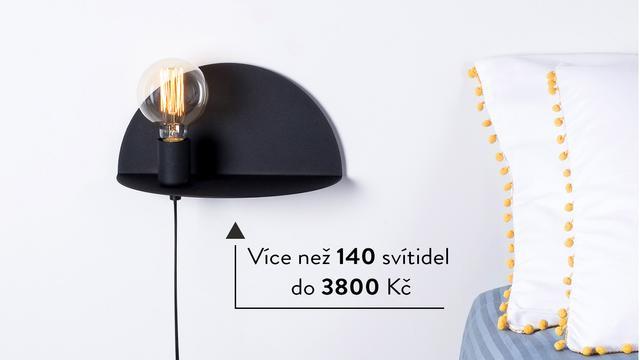 Více než 140 lamp do 3800 Kč